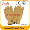 Промышленная безопасность желтый Теплые зерна кожаный водителя Рабочие перчатки (12204)
