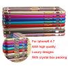Caso de parachoques del capítulo del metal de aluminio delgado ultra fino para iPhone6