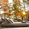 Стул T517 салона Sun домашнего PE кровати Sun пляжа ротанга плавательного бассеина мебели сада напольного Wicker