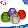 Suporte de vela de vidro de Tealight da forma colorida da esfera (CHZ8005)