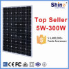 250W Monocrystalline 태양 모듈 PV 위원회 (5-300W)
