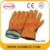 革靴のグレーンレザーの完全なライニングの冬の産業安全ドライバー革作業手袋(12306)