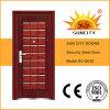 Diseño de acero de la puerta de la puerta de China de las fotos de acero de los precios bajos (SC-S035)