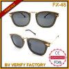 Óculos de sol Fx-48 de madeira puros naturais chiques elegantes