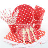 Polka rosso DOT Party Paper Tableware per Wedding Decoration