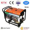 Tipo silenzioso gruppo elettrogeno diesel del saldatore (5kw)