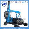 Programa piloto de pila hidráulico de la barandilla de la carretera para instalar los postes de acero