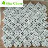 Камень мозаики естественного каменного настила мозаик плитки белого мраморный материальный