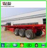 Árbol de la fábrica 3 de China 40 pies del envase de acoplado plano semi para la venta