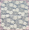 Ткань шнурка платья венчания шнурка малого цветка белая (1148)