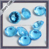 Pendant를 위한 낮은 Price Aquamarine Color Round Crystal Glass Beads