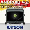 Witson Android 4.2 Car DVD pour Toyota Alphard avec A9 l'Internet DVR Support du WiFi 3G de ROM du jeu de puces 1080P 8g