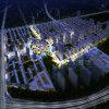 Stadt-Planungs-Architektur-Wiedergabe mit Areial Ansicht