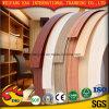 A borda de borda de madeira do PVC da grão para o gabinete e a mobília decoram