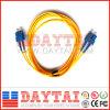 Sc/Upc удваивают шнур заплаты оптического волокна Sm разъема
