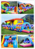 Kids gonfiabile Happy Jumping Tunnel Course per Park