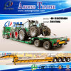 80tons 2 Lines 4 Axles Low Bed Semi Trailer for Sale