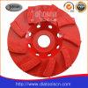 roue de cuvette de turbulence de diamant de 125mm pour le béton
