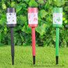Indicatori luminosi solari di plastica del percorso del giardino del bastone di colore