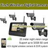 7  neue Home Wireless Überwachungskamera mit 4CH