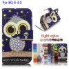Owl Leather Flip Cover Mobile Phone Case for Bq Aquaris E4.0 (BQ Aquaris E4.0 Case)