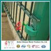 Cerca revestida dobro revestida da cerca de fio do Qym-Pó/PVC