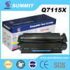 Cartucho de toner compatible del laser de la cumbre de las piezas de impresora para HP Q7115A /Q7115X
