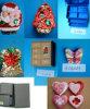 Коробка подарка, подарки, орнаменты