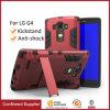 Tampa de capa protetora híbrida de camada dupla com Kickstand para LG G4