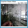 vidrio de modelo del vidrio atado con alambre de Nashiji del claro de 3m m 1830*2440m m