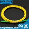 Cuerda de corrección óptica de fibra E2000A al amarillo a una cara de E2000A SM
