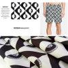 Tela ocasional impressa Digitas abstrata do vestuário dos Shorts/da praia