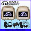 7  contact de joueur d'appui-tête de la voiture DVD avec l'écran de moniteur d'affichage à cristaux liquides de TFT, USB, écart-type, Fm, écouteur sans fil d'IR, jeu à 32 bits DVD+Monitor (H702DA)