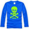 Le plus nouveau T-shirt de douille imprimé d'adultes par coton drôle long