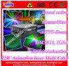 12W luz al aire libre del club del disco del laser de la animación DMX
