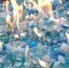 다이아몬드 유리제 사려깊은 파란 Fireglass