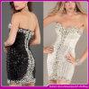 2014 neue Ankunft kundenspezifisches Dame-reizvolles Diamant-Partei-Kleid