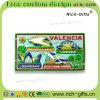 Ricordo promozionale personalizzato Valencia (RC-ES) dei magneti del frigorifero del PVC della decorazione dei regali