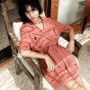 Wholesale Sommer-neuester langer Hülsen-Schwarz-Blumen-Druck-Maxi Frauen Abaya Kleid