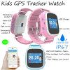Montre imperméable à l'eau de traqueur d'IP67 GPS pour des enfants avec l'écran coloré