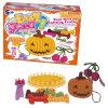 DIY Knit-Halloween-Kürbis, der Hallowmas Spielzeug strickt