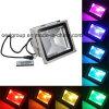 30W 120 Mehrfarben-LED Fernsteuerungs-LED Flut-Licht des Grad-Strahlungswinkel-RGBW mit Cer RoHS Zustimmung
