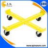 Chariots jaunes de tambour d'acier inoxydable