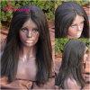 Perruques de lacet de cheveu indien de Vierge de 100% pleines avec la qualité
