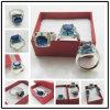 Blauer Feuer-Opal-Ring, blauer Saphir-Opalring (RSB2445)