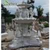 Fontana intagliata mano di marmo bianca dello stagno del giardino della scultura