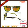 F6295 China Factory Navy Green Plastic Sunglass com Revo Lens