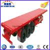 reboque Flatbed do caminhão do recipiente de Jushixin do recipiente de transporte de 40FT