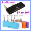 Молния 8pin к 30pin Dock Audio Charger Adapter на iPhone 5 5s 5c