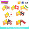 Изготовленный на заказ покрынный золотом Pin отворотом национального флага эмали логоса тавра